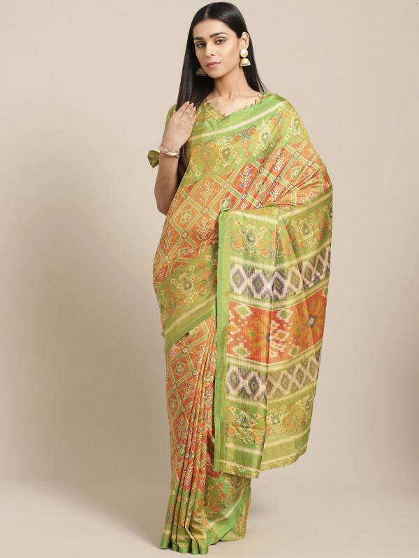 Latest Designer Printed Silk Saree Collection For Functions And Festivals
