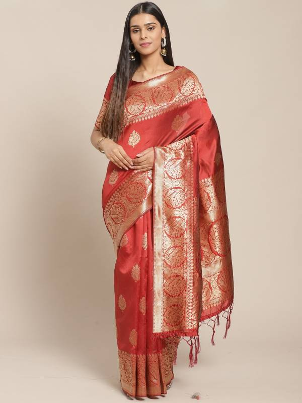 Tanisha 2 Festive Silk Blend Woven Party Wear Saree Collection at Wholesale Price