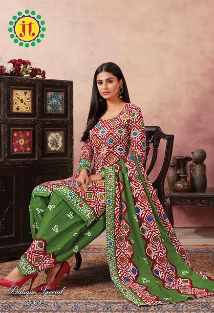 Jt Batique Special 20 Cotton Designer Regular Wear Kurti with Bottom and Dupatta Collections