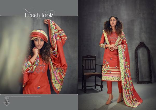 Slt Amira 1 Fancy Casual Wear Digital Style Print  Cotton Dress Materials Collection
