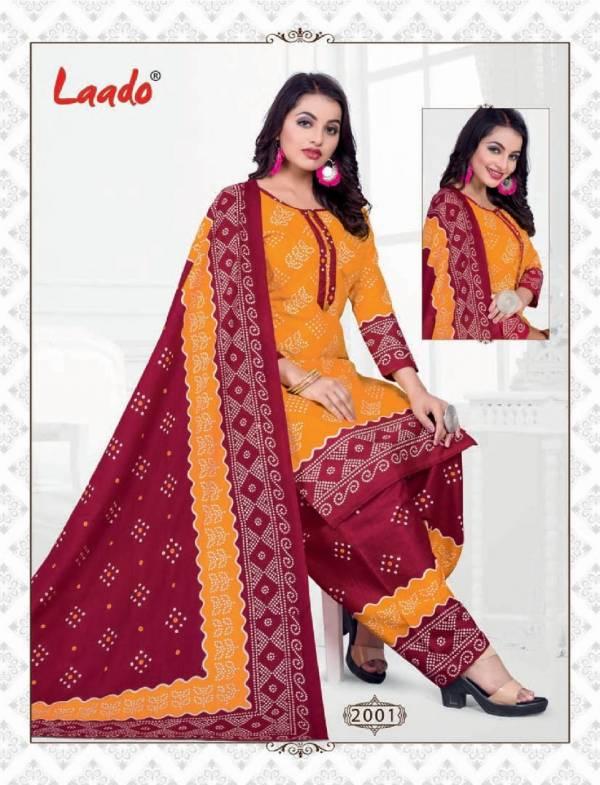 Laado Bandhni Special Vol 2 Latest Designer Pure Cotton Printed Dress Material Collection