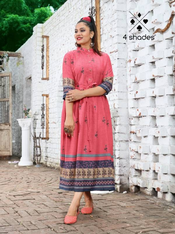 4 Shades Feel n Flow Vol 2 Latest Designer Printed Kurtis Collection