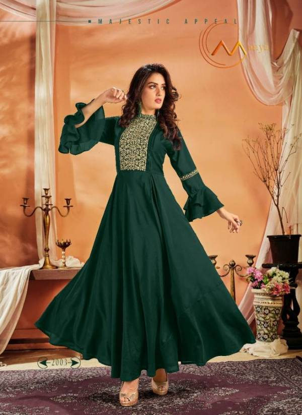 Manya Designer Party Wear Gown With Beautiful Neck And Sleeves Design