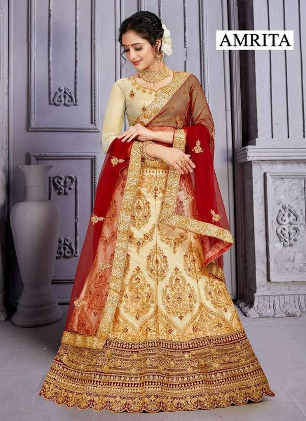 Amrita Heavy Silk Designer and Party Wear Lehenga Choli Collection