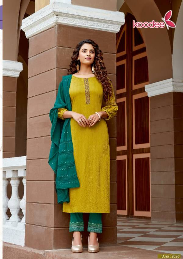 Koodee Saheli 6 Latest Fancy Festive Wear Pure Nylon Viscose With Embroidery Work Designer Readymade Salwar Suit Collection