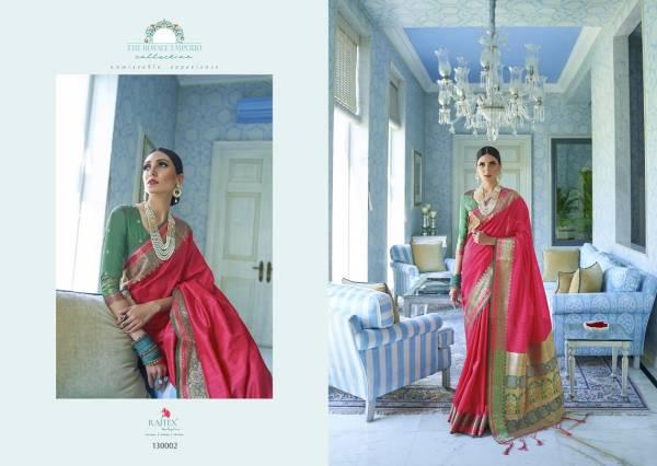 Rajtex Katariya Latest Designer Fancy Rich Look Bridal Wedding Party Wear Silk Saree Collection