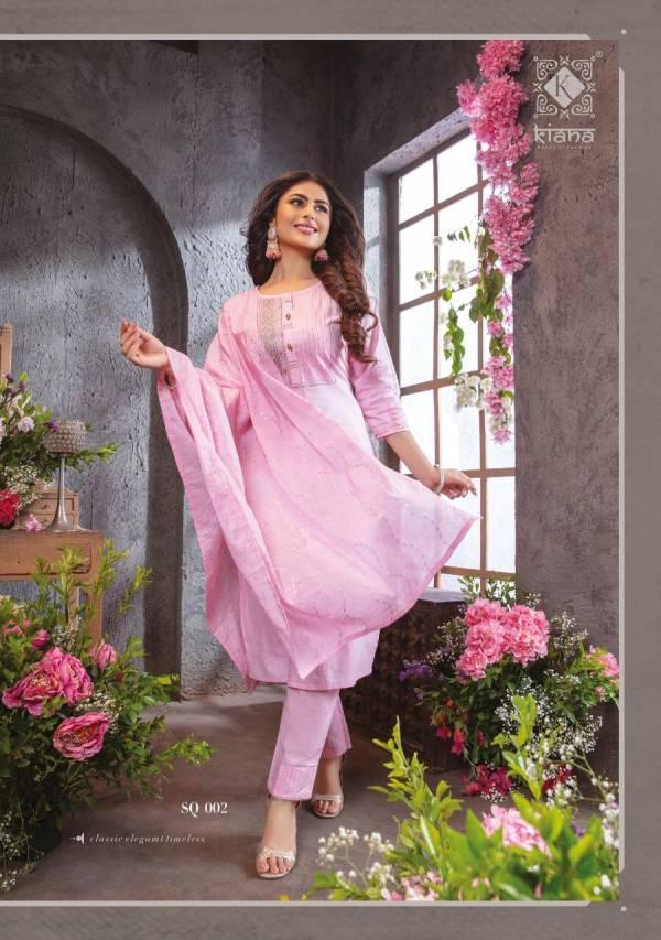 KIANA SUMMER QUEEN Latest Festive Wear Fancy Pure Cotton Lurex Touch  Thread Work Heavy salwar Suit Collection