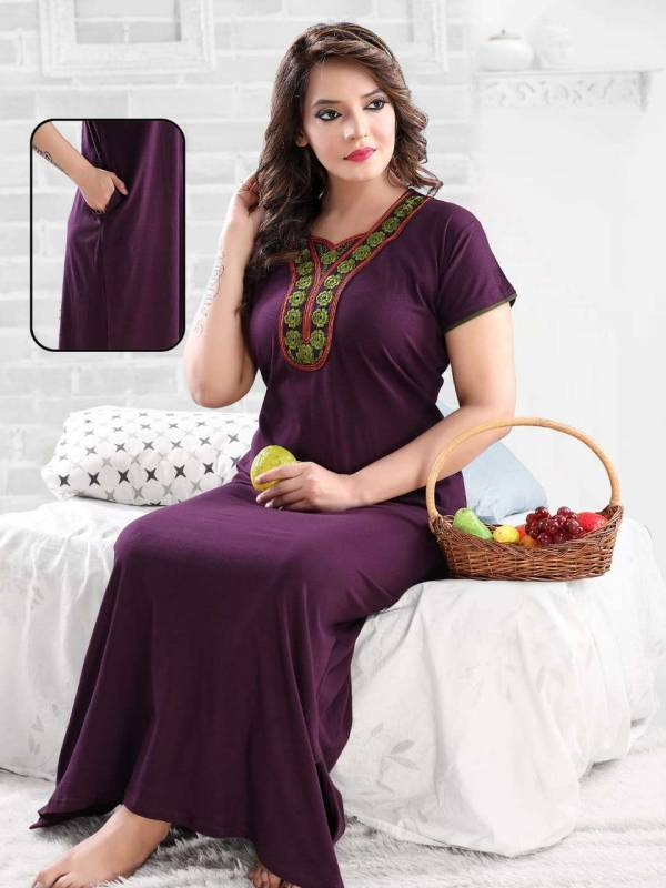 SINKER BY KAAMIRI 1001 TO 1006 SERIES DESIGNER BEAUTIFUL STYLISH FANCY COLORFUL READY TO WEAR PLAIN NIGHTY AT WHOLESALE PRICE