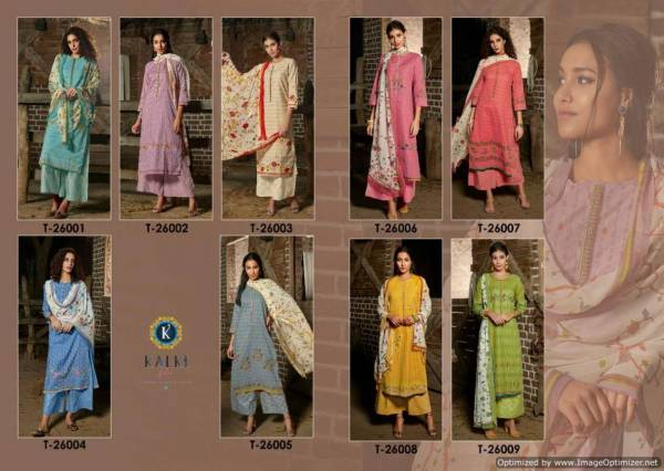 Kalki Ready Made Collection Of Kurti Plazzo Pattern Suit Gota Patti Work With Nazneen Dupatta