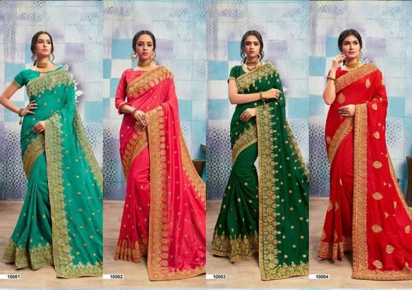 Kalista Sagun Fancy Designer Party Wear Bridal Wedding Festive Wear Saree Collection With Embroidery Work