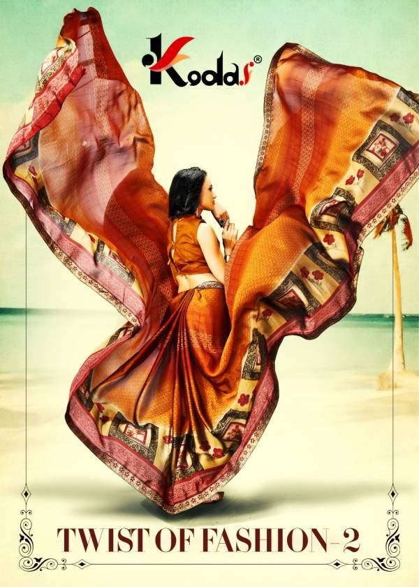 Twist Of Fashion 2 Latest Printed Designer Border Saree Collection