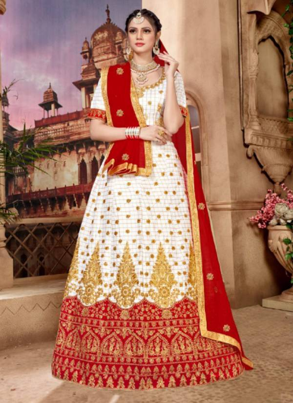 Aroma Silk Designer Wedding Party Wear Embroidered Lehenga Choli Collection 4001-4006