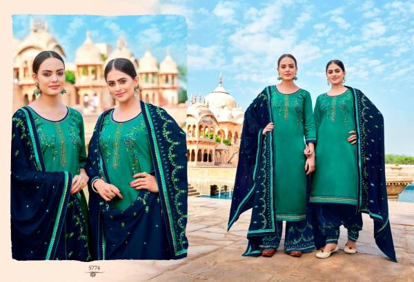 KESSI PANETAR BY PATIALA Latest fancy Festive wear Pure Jam silk with Embroidery Work Heavy salwar suit Collection