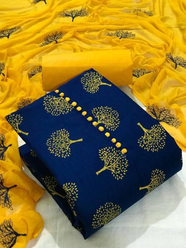 Tcvv Slub Cotton 3 Casual Wear Cotton Printed Dress Material Collection