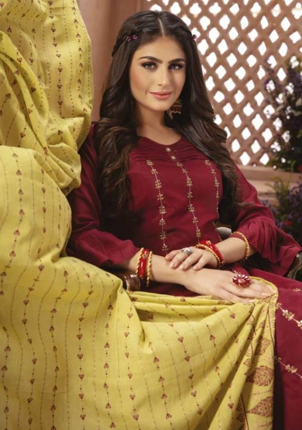 Kiana Shamma Designer Festive Wear Heavy Maslin With Hand Work Readymade Collection