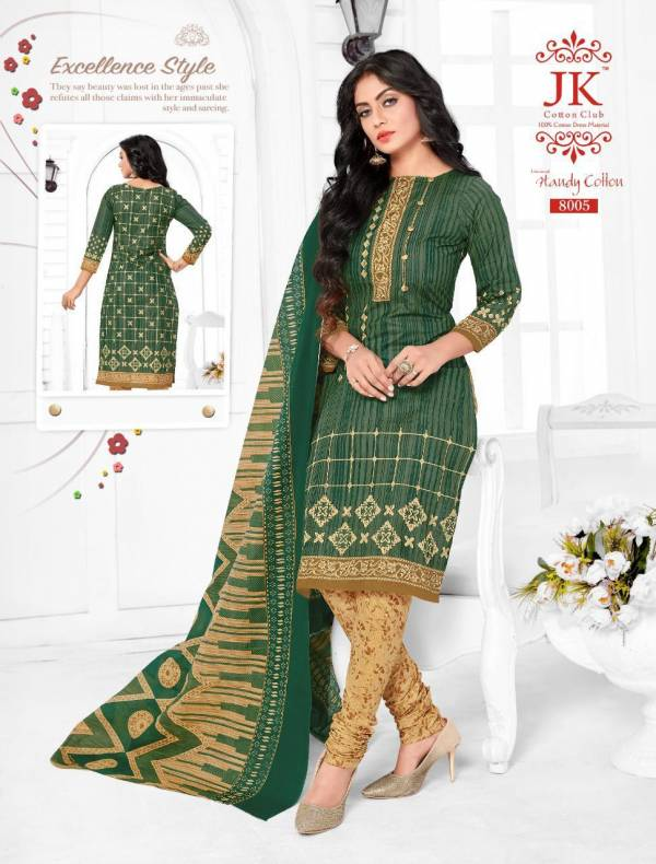JK Handy Cotton 8 Latest Pure Cotton Printed Dress Material Collection