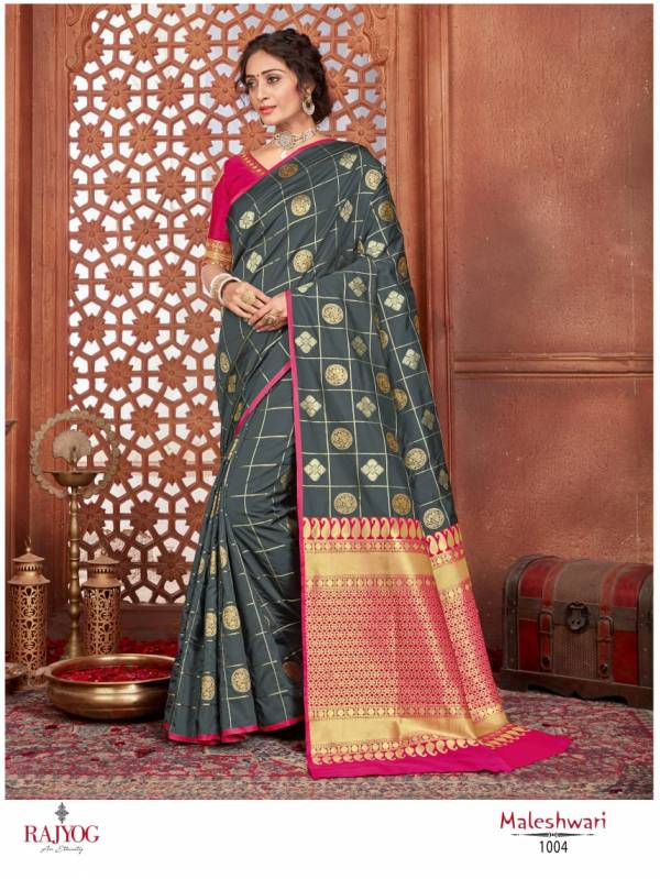 Rajyog Maleshwari Exclusive Printed Rich Look Pllu Soft Silk Sree Collection