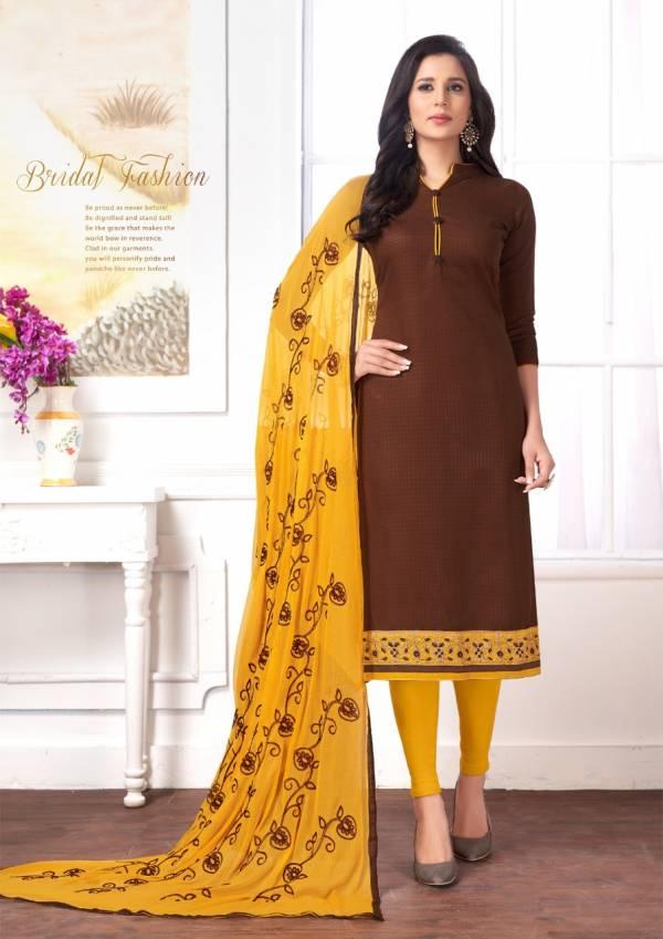 Latest Designer Regular Wear Churidar Dress Material Collection With Nazneen Dupatta