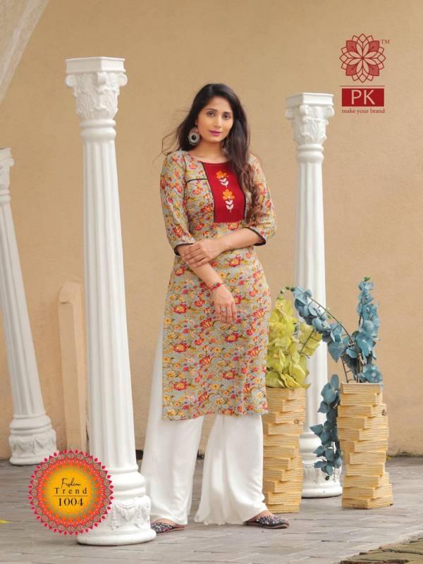 FASHION TREND VOL 1 Latest Designer Heavy Rayon Regular Wear Printed Kurti Collection