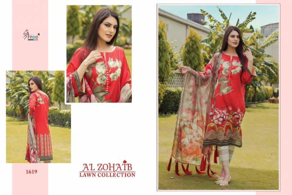 Shree Al Zohaib Lawn latest Collection Regular Wear Pure Cotton With patch Embroidery Pakistani Style Salwar Suit