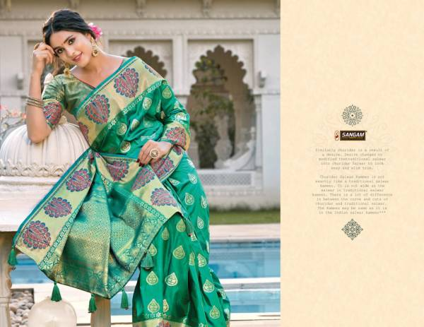 Sangam Kanupriya Latest Fancy Designer Heavy Pure Soft Silk Festive Wear Silk Saree Collection