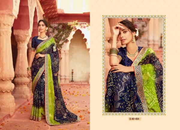 Lt Bandhan Printed Wear Fancy Designer Chiffon Latest Saree Collection
