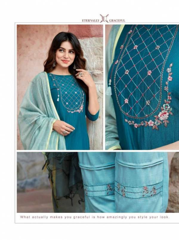 Ladies Flavour Aarohi 2 Latest fancy Designer Ethnic Wear Heavy Chinon Ready Made Collection