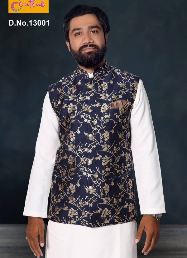 Eid Special New Desgner Outlook Vol 13 Festival Wear and Party Wear Jute and Jacquard Printed Modi Jacket Collection