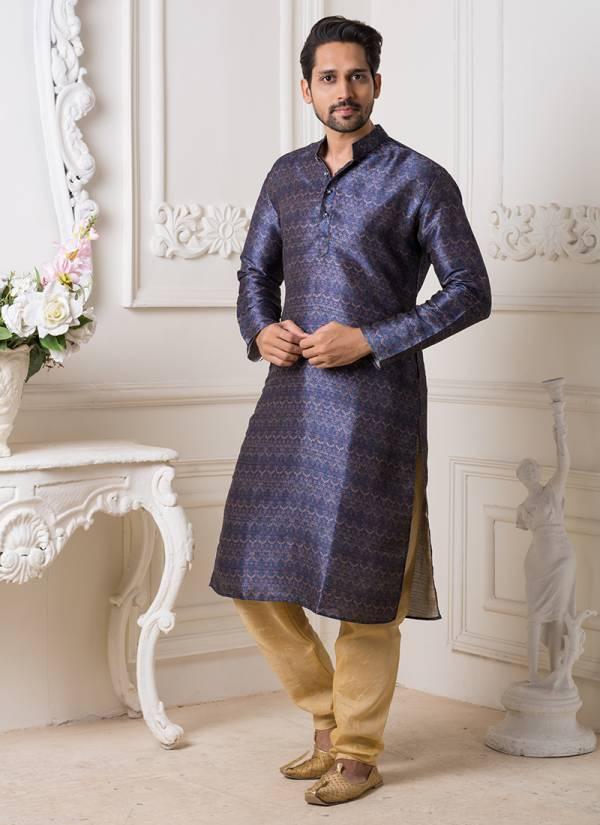 Designer Silk Embroidery Work Kurta Pajama in Wholesale Collection