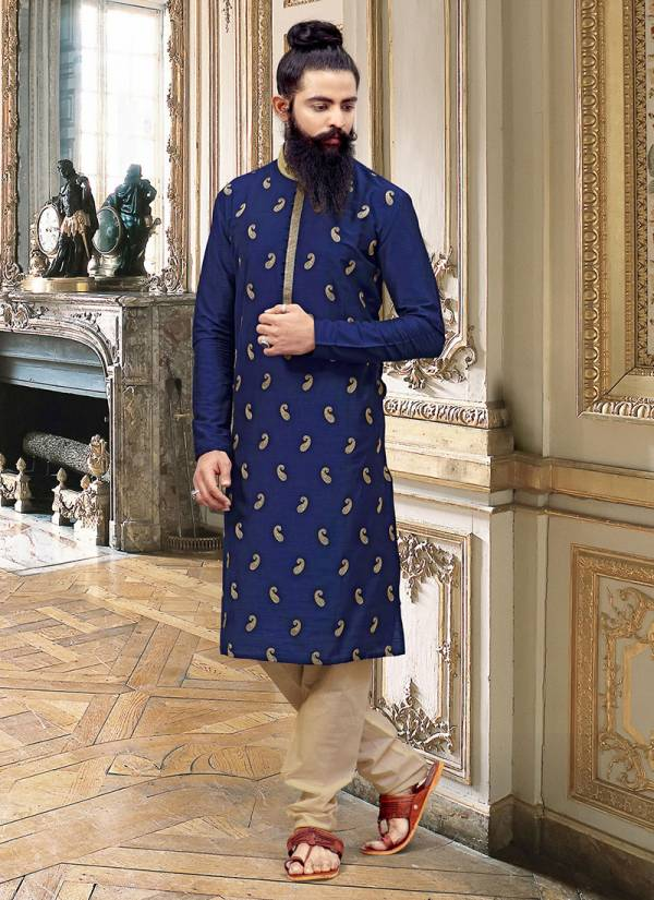Designer Party Wear Silk Embroidery Work Kurta Pajama in Wholesale Collection