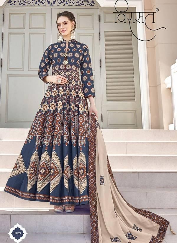 Virasat Vol MAYURI Deigner Killer Silk Digital Patola Print Exclusive Gown Collection With Free Matching POTLI Bag