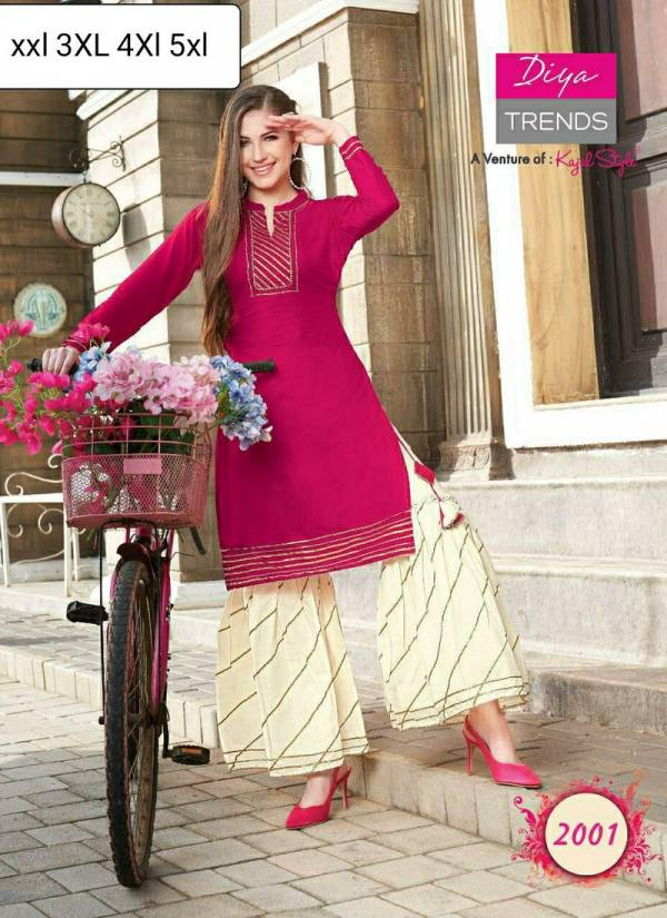 Fashion Angel Daily Wear Kurti With Plazzo, Sharara & Skirt Pair Fancy Embroidery Work