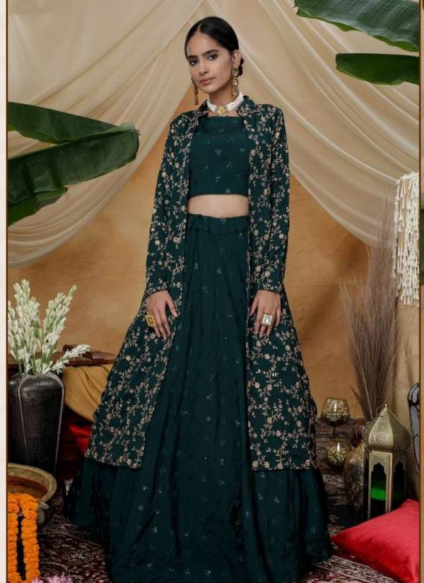 KHUSHBOO FASHION Bridesmaid Vol-7 Designer Fancy Party And Wedding Wear Thread With Sequence Embroidery Work Indo Western Designer Fancy Lehenga Choli Collection