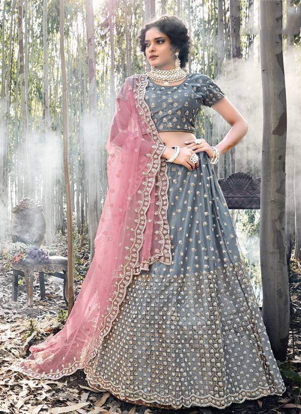 Zikkra Net Zarkan Work Designer Wedding Wear Lehenga Choli Collection