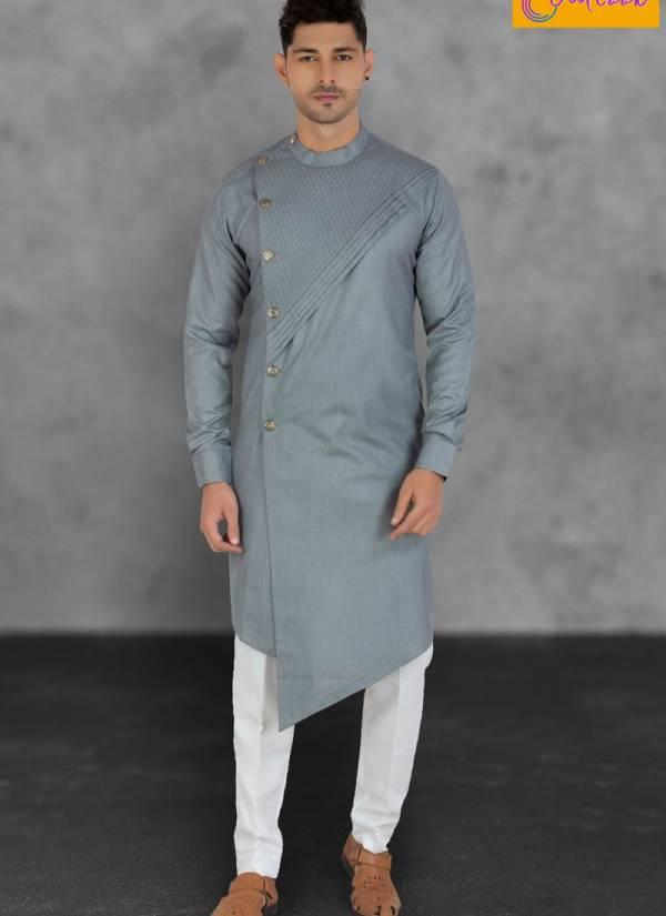 Outlook Vol 9 Eid Special Cotton Regular Wear Designer Plain Side Cut Kurta Pajama Collections