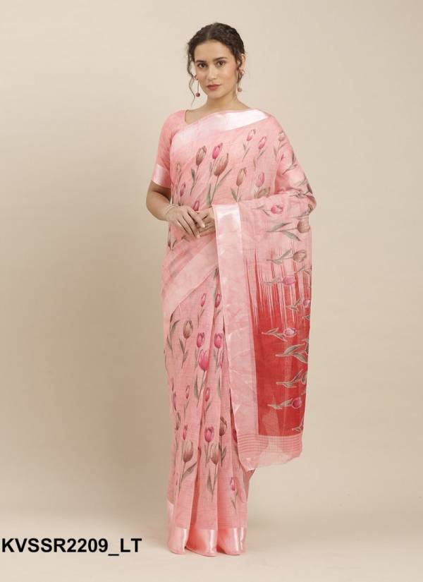 Kessi Pooja Cotton Linen Designer Daily Wear Printed Saree Collections