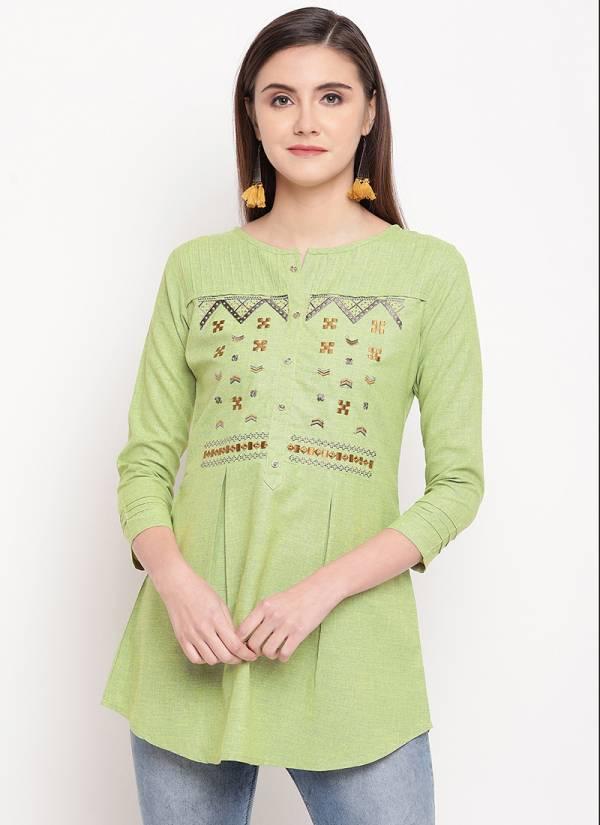 Kessi Sangini Cotton Designer Embroidery Tops