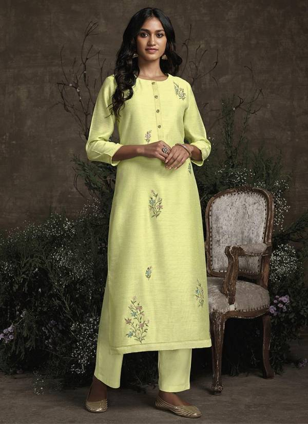 Royal Garden Silk Partywear Handwork Kurti comes with Plazzo Collection