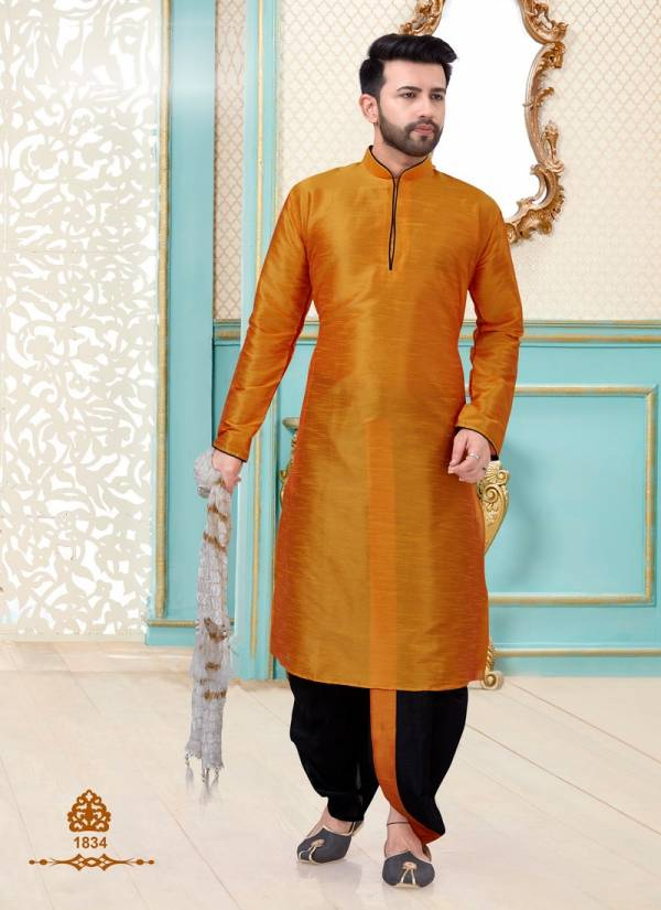 Festival Wear and Party Wear Eid Special Designer Dupion Silk Kurta Pajama Collections
