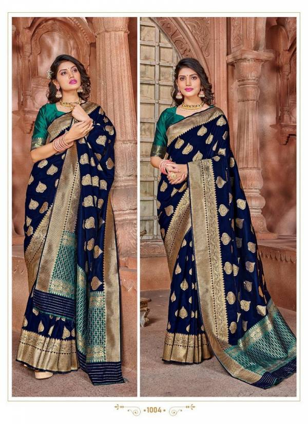 Rajyog Virasat Silk Latest Sancy Festive Wear Heavy Designer Soft Silk Weaving With Contrast Pallu With Blouse Collection