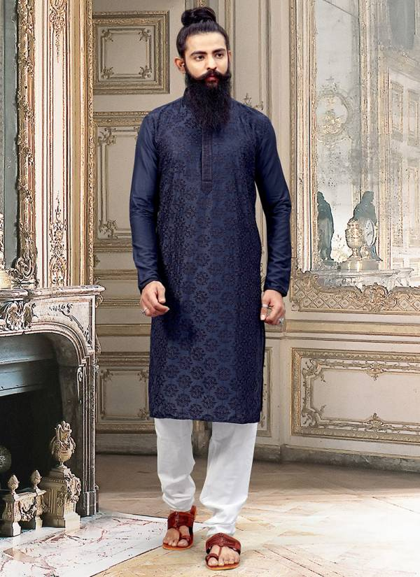 Designer Party wear Traditional Silk and Jacquard Embroidery Work Kurta Pajama in Wholesale Collection