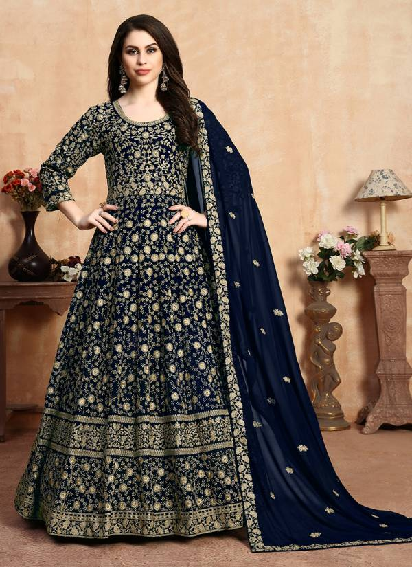Anaya Faux Georgette Latest Designer Abaya Style Heavy Work Anarkali Suits Collection