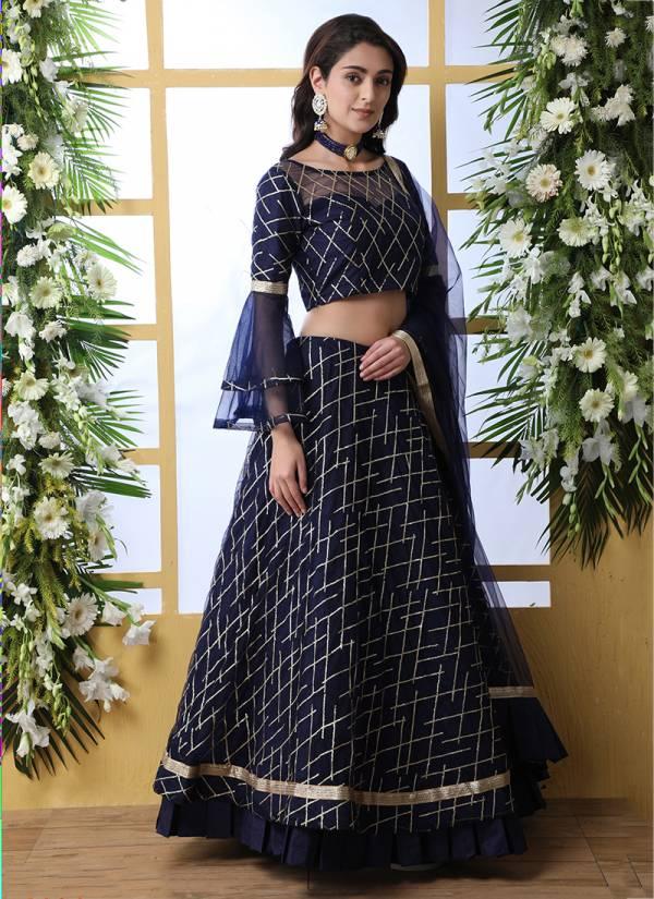 Khushbu Designer Wedding and Partywear Embroidery Net Lehenga Choli