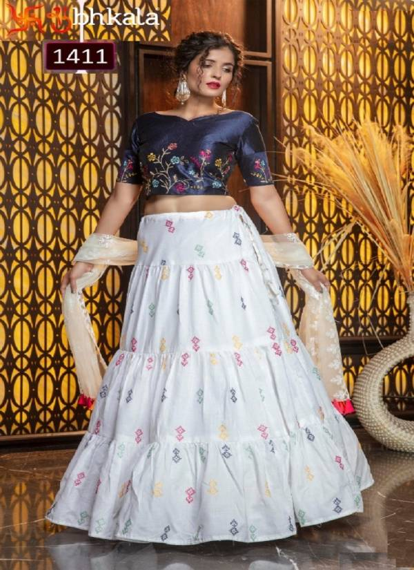 Shubhkala Girly Vol 7 Latest Designer Fastive Wear Thread Embroidery Work Lehenga Collection