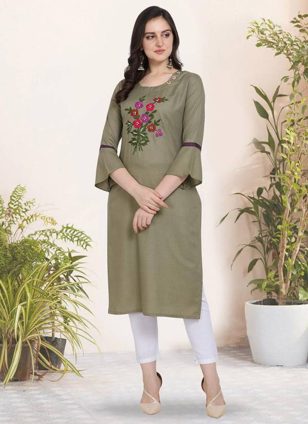 Kessi Handwork Cotton Silk Designer Reguar Wear Kurtis Collection