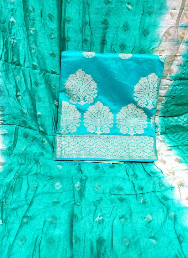 Rahul NX Kanchipuram Banarasi Top with Cottan Bottom and Banarasi Dupatta Designer Salwar Suit Collections