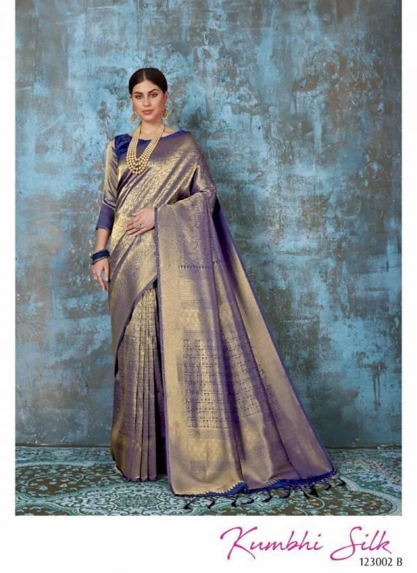 RajTex Kumbhi Silk Soft Weaving silk Work Designer Sarees, Wedding and Party Wear Saree Collections