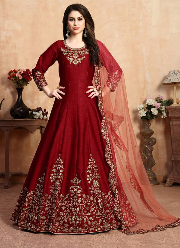 Anaya Eid Special New Designer Floor Length Art Silk Anarkali Suits Collection