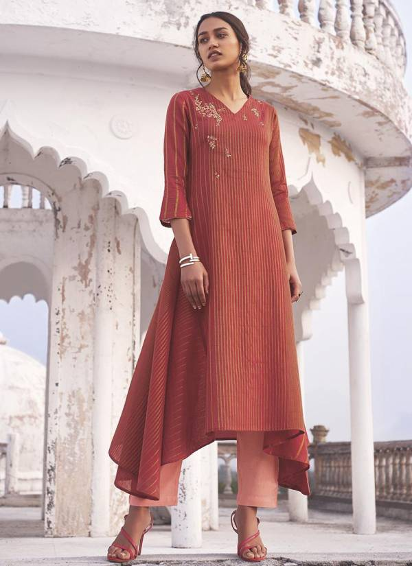 Shringar Omtex Linen Cotton Partywear Embroidery Kurti Colection