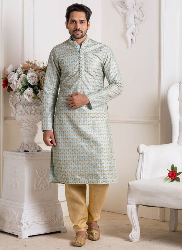 Festival Designer Silk Embroidery Work Kurta Pajama in Wholesale Collection
